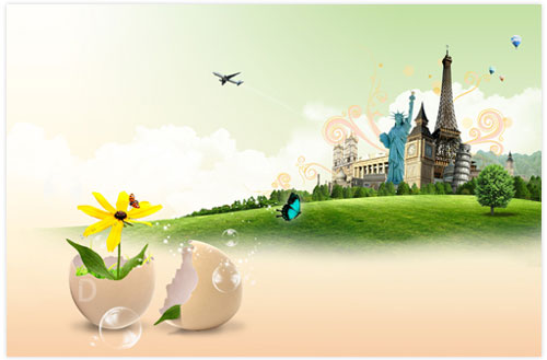 دانلود تصوير لايه باز بهار در پاریس PSD Sources – Spring In Paris