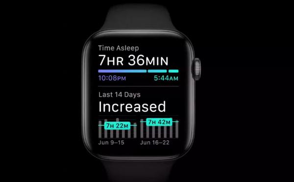 WatchOS 7 می تواند خواب شما را پیگیری کند.