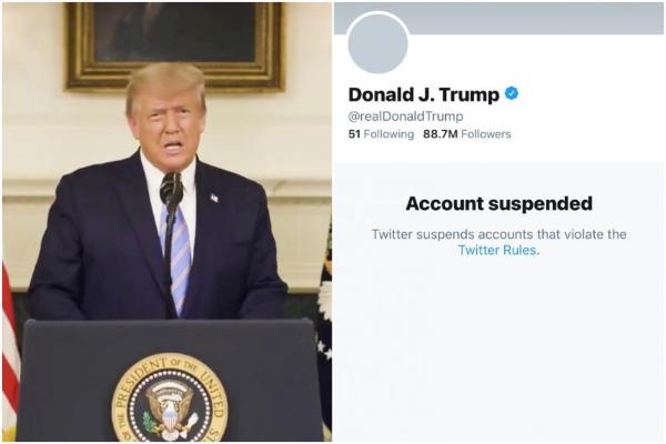 حساب توییتر ترامپ از کار افتاد